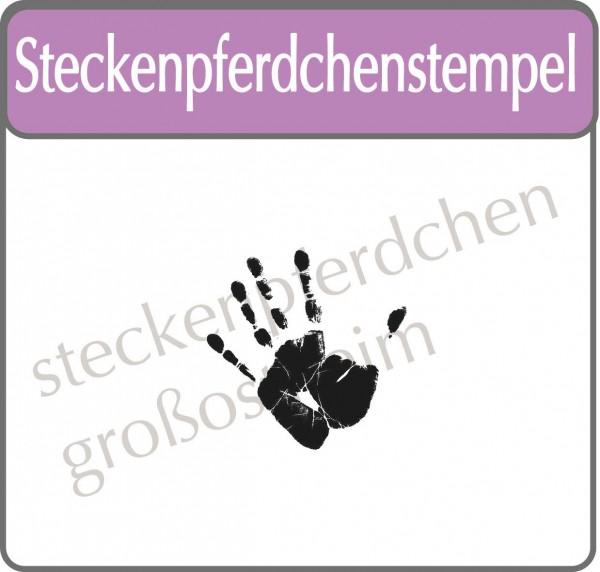 Steckenpferdchenstempel Hand