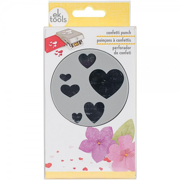 Ek Success tools confetti large Punch hearts