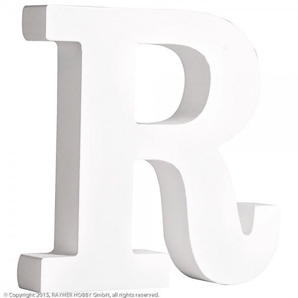 MDF- Buchstabe R, weiß