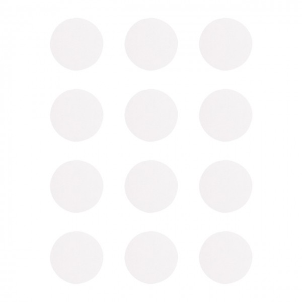 Rayher Blanko Sticker rund weiß