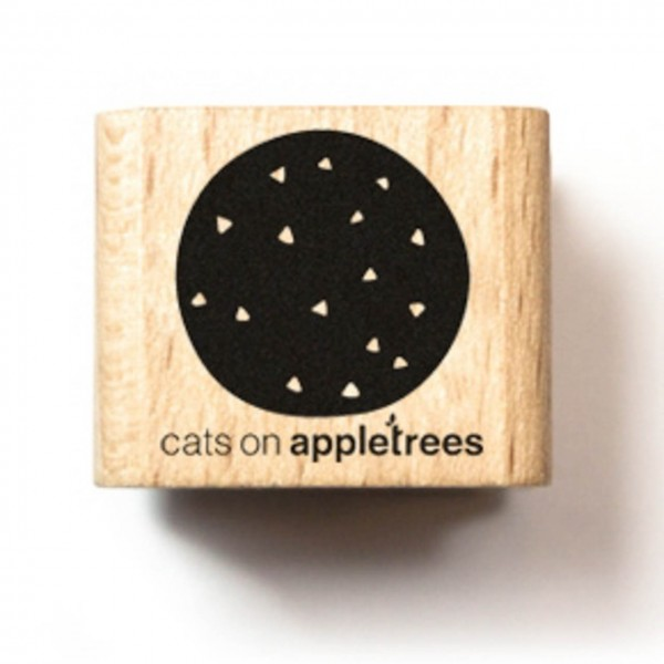 cats on appletrees Holzstempel Eiskugel