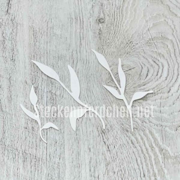 Steckenpferdchenstanze schlanke Blätter 2
