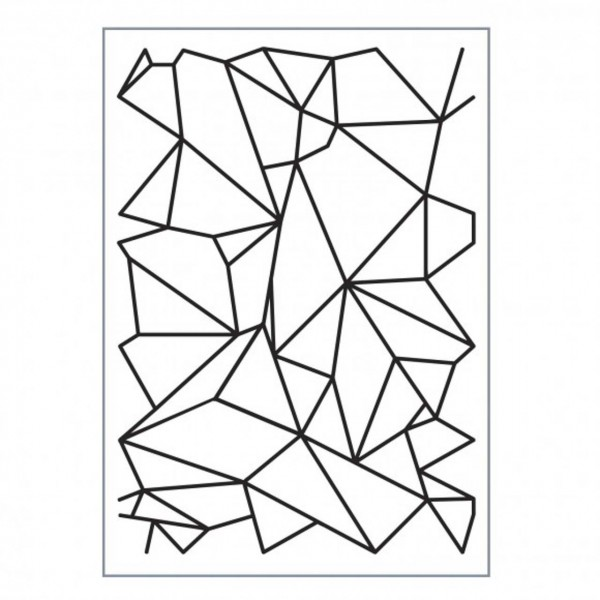 Embossing Folder Love it graphic lines