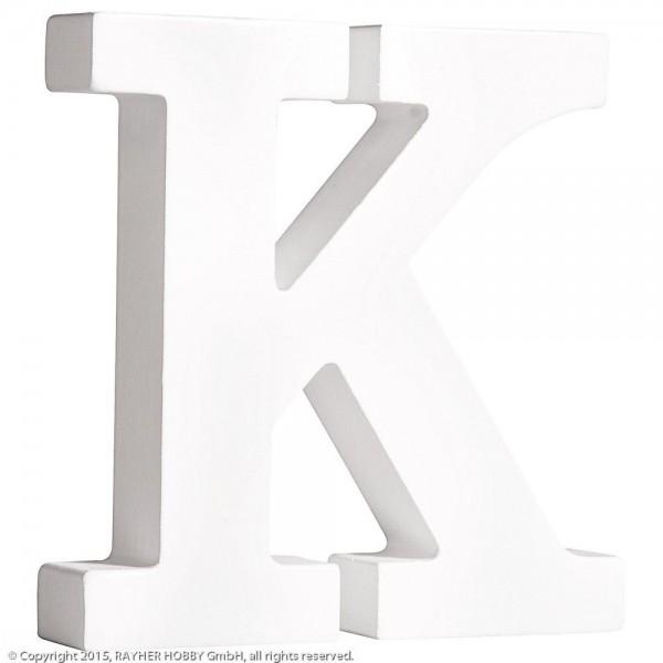 MDF- Buchstabe K, weiß