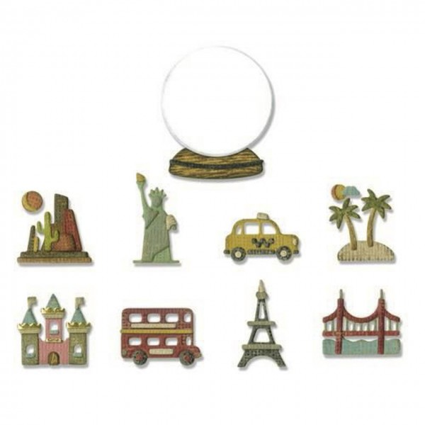 Sizzix Thinlits Tiny Travel Globe