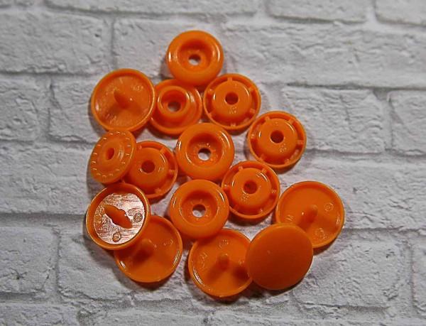 Kam Snap Druckknöpfe glänzend orange