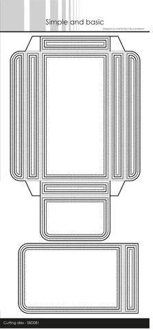 Stanzdie - Verpackung mit Deckel als Lasche