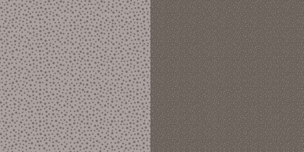 Dini Design Papier kleine Punkte/Blumen Mokkabraun