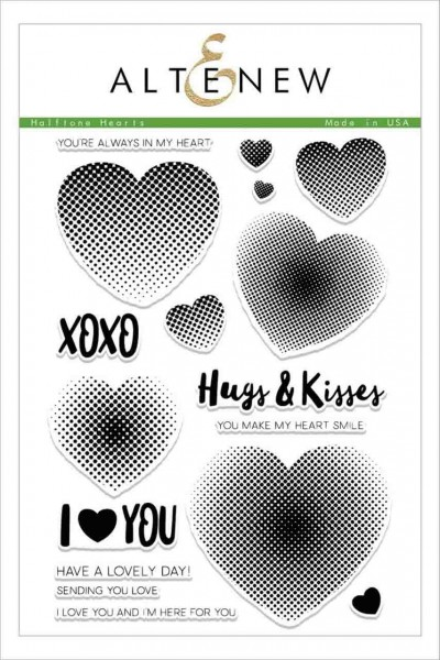 Altenew Clearstempel Set Halftone Hearts