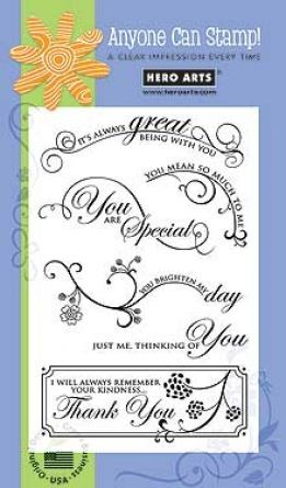 Hero Arts - Clear Stamps - Great Flourishes Messages