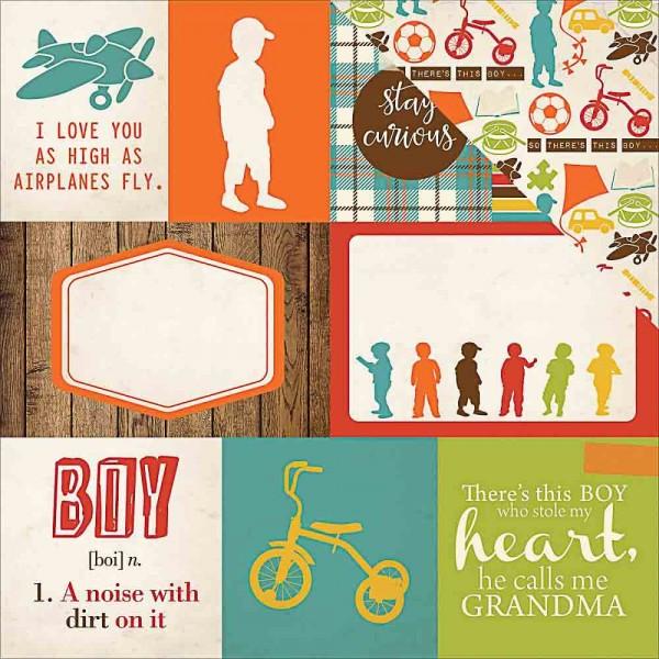 Echo Park Grandson Journaling cards