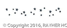 Rayher Washi Tape Sterne schwarz