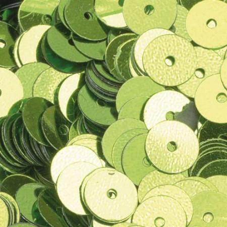 Pailletten rund flach hellgrün