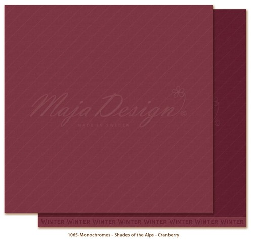 Maja Design Monochromes - Shades of the Alps - Cranberry