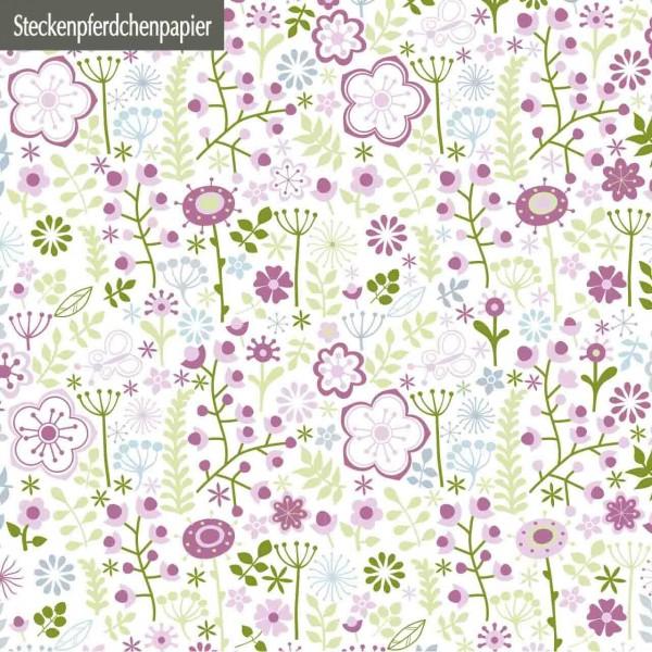 Steckenpferdchenpapier Blumenwunder