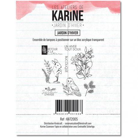 Les Ateliers de Karine Clearstempelset Jardin D`Hiver