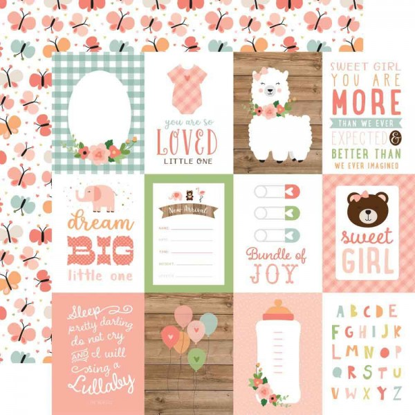 Echo Park Baby Girl - 3x4 Journaling cards