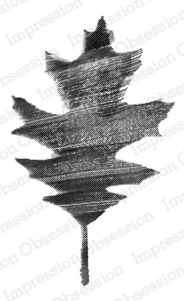 Impression Obsession Holzstempel painted leaf 2