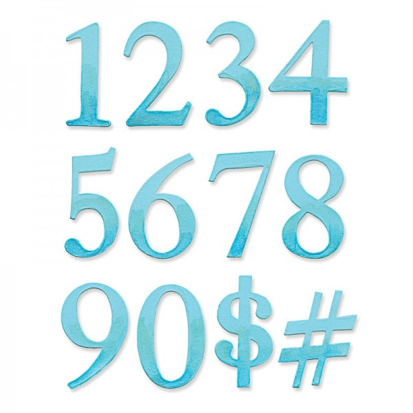 Sizzix Serif Essential Numbers