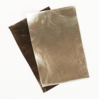 Rayher Metallic Kunstleder-Zuschnitte gold/mocca
