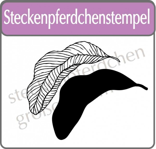 Steckenpferdchenstempel tropical leave Set 3
