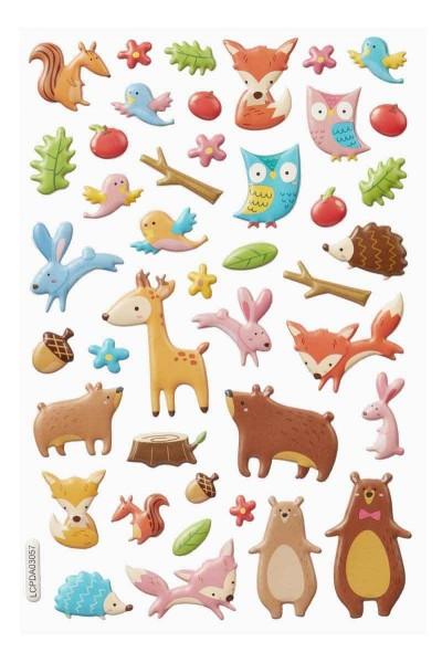 Hobby Fun Softy Sticker Waldtiere