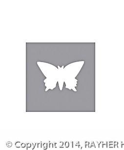 Rayher Motivstanzer Schmetterling 1 inch