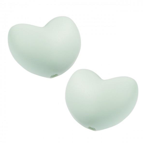 Schnulli-Silikon Herz mint