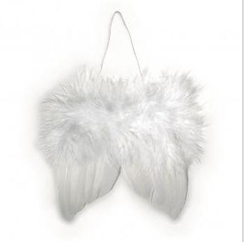 Engelflügel aus Federn weiß