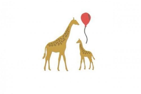 Sizzix Thinlits Die Giraffes