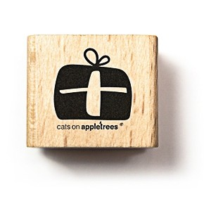 cats on appletrees Holzstempel Geschenk dick