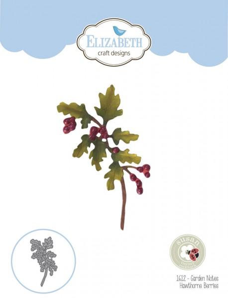 Elisabeth Craft Designs Die Garden Notes - Hawthorne Berries