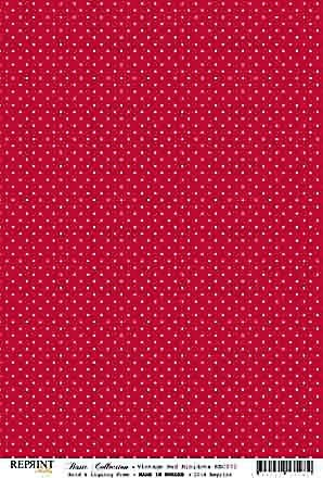 Reprint Basic Collection Vintage red minidots
