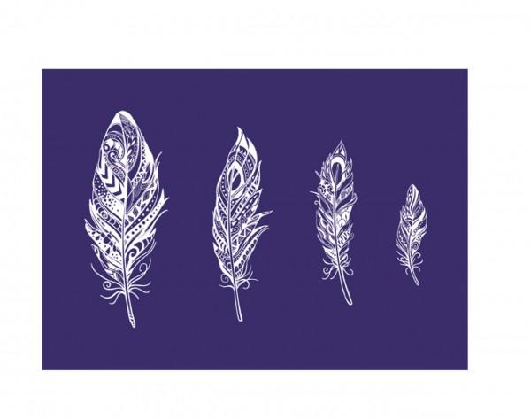 Rayher Siebdruck Schablone Mandala-Federn
