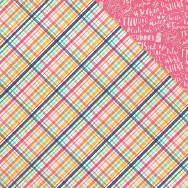 Echo Park Paper Summer Dreams lovin plaid
