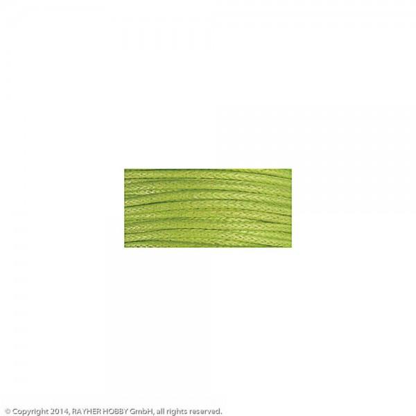 Baumwollkordel, gewachst h.grün