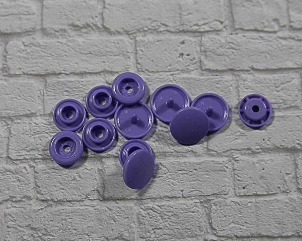 Kam Snap Druckknöpfe glänzend hell lila
