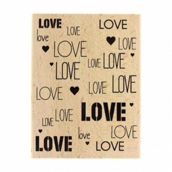 Florileges Design Holzstempel Fond love
