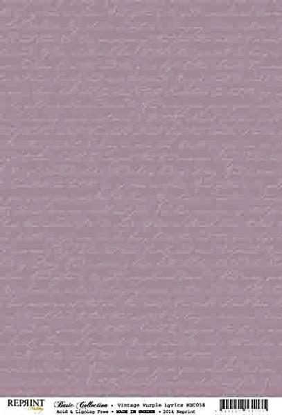 Reprint Hobby Basic Collection Vintage Purple Lyrics