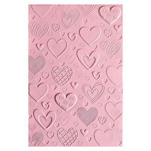 Sizzix 3-D Embossing Folder - Hearts