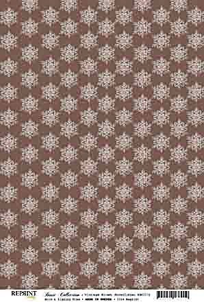 Reprint Basic Collection Vintage brown Snowflakes