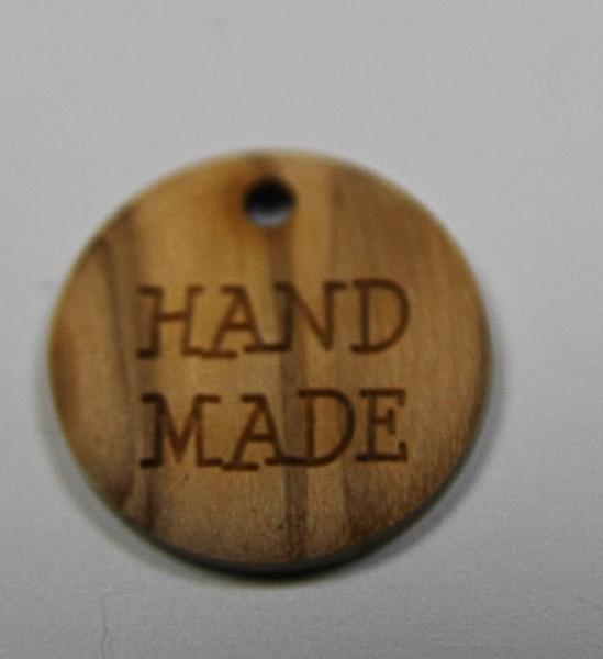 Union Knopf Holzzierteil Handmade