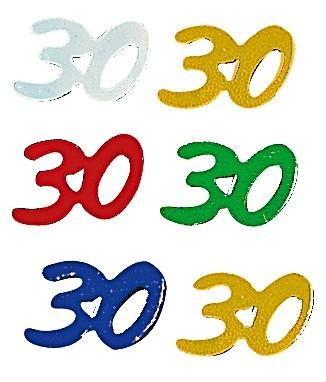 Jubiläums-Pailletten 30 bunt sortiert
