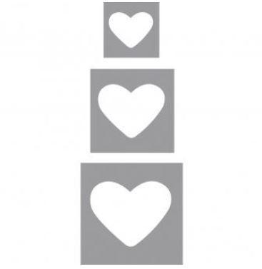Motivstanzer 3-er Set Herzen