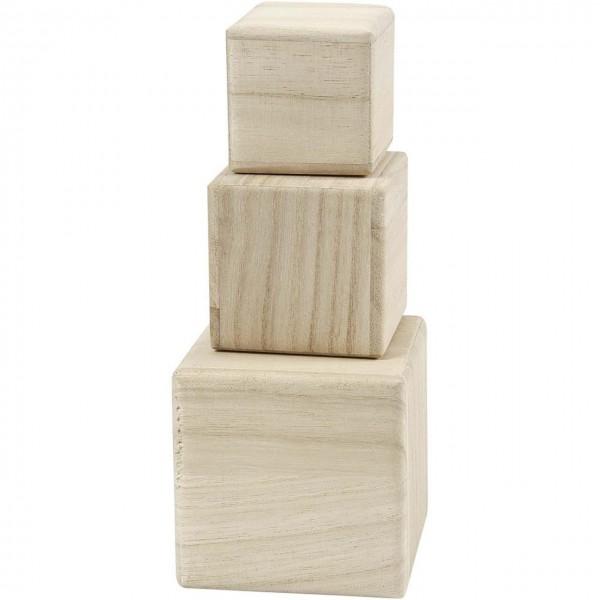 Holzwürfel 3-er Set