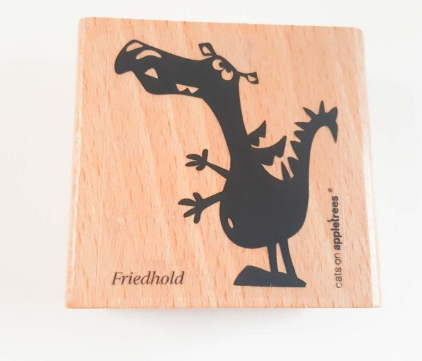 cats on appletrees Holzstempel Drache Friedhold