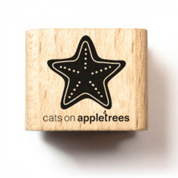 cats on appletrees Holzstempel Pfefferkuchenstern