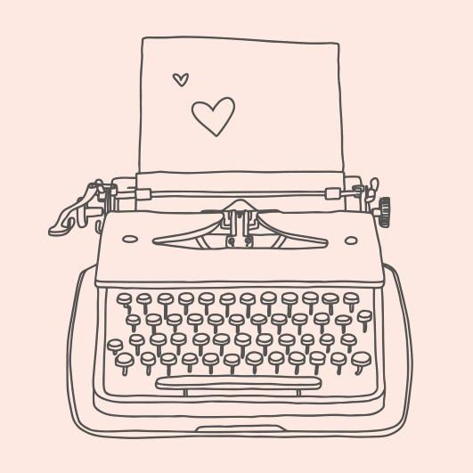 May & Berry Holzstempel - Schreibmaschine