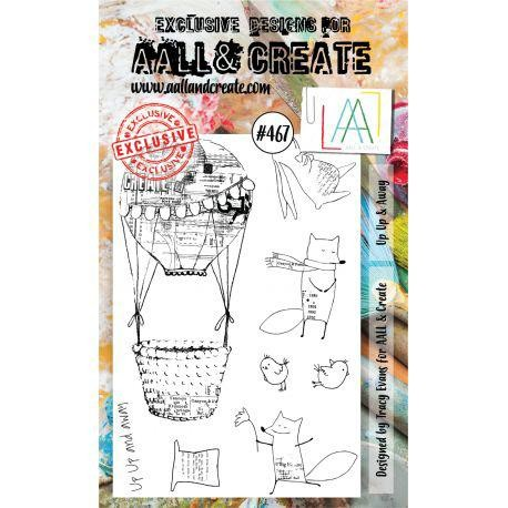 AALL & CREATE Clearstempel Set #467- up up & away