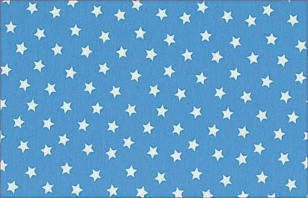 Baumwolljersey Sterne Türkis